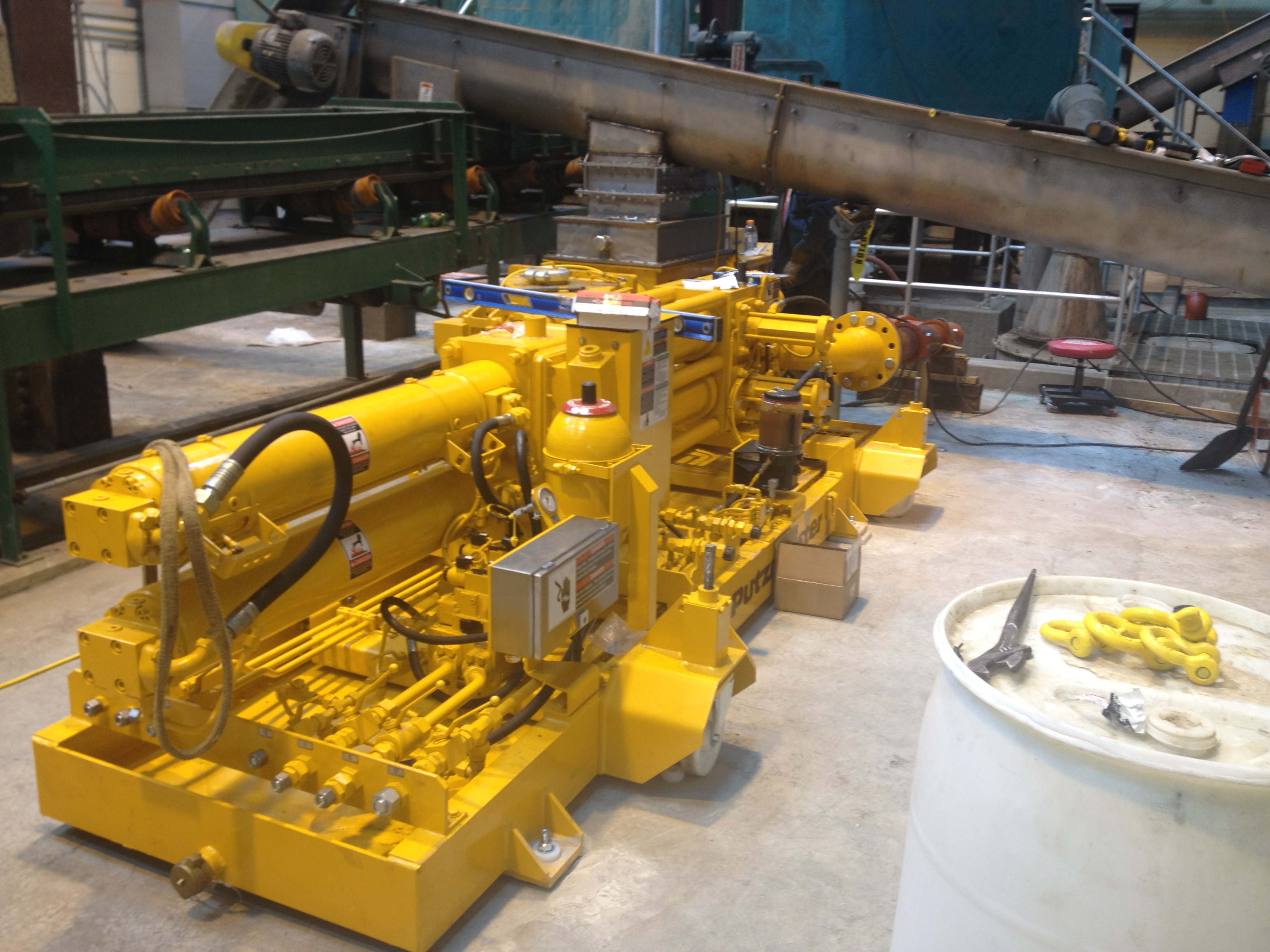 INSTALLATION OF PUMPS AND CONVEYORS